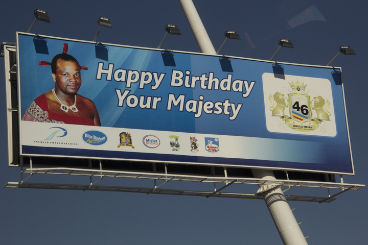 The King is almost a deity in this small African country and his birthday parties cost millions of US dollars