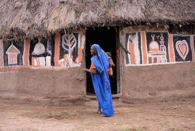 oromo woman blue