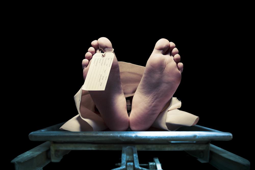 corpse in morgue