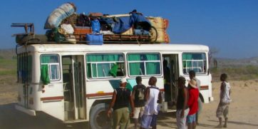 Traveling by bus in Madagascar. Photo: Photo:  Linda De Volder/Panoramio