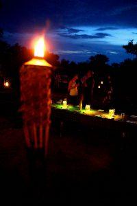 safari camp night